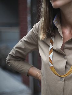 ZIGZAG NECKLACE, FLAME