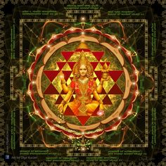 """#Lakshmi showering of gold. The #Mantra is """"Stotram on Devi Lakshmi - #Mahalakshmi #Ashtakam"""" Devi Laxmi is deity of Wealth and Prosperity and Abundance. Exact meaning of this mantra is – Showering of Gold. Available to buy at stores: http://www.zazzle.com/ascended_angel http://www.redbubble.com/people/art-by-angels #mandala #shriyantra #spiritualart"""
