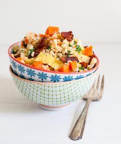Cauliflower Fried Rice w/Sriracha / #recipes