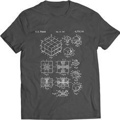 Rubiks Würfel-Patent-T-Shirt 3D-Kombinations-Puzzle Magic Cube Geschenk-Idee