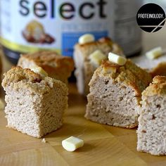 White Chocolate Blondie Protein Bites. Method: Mix 1 scoop Blondie Select Protein, 3tbsp coconut flour, 5tbsp oat flour, 1tsp baking powder, pinch of salt, 1/4cup + 2tbsp egg whites, 1/4cup 0% Greek yogurt, 1/4cup + 2tbsp unsweet almond milk, 1tbsp truvia +1tsp vanilla ext, 2tbsp white choc chips.  Pre heat oven 180 degrees C. Mix all ingredients & Pour into mini silicone brownie moulds, bake for 15-20mins. Cool before cutting up into bitesize squares. MAKES- 16 bitesize blondies.