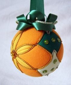 quilted christmas ball ornament +
