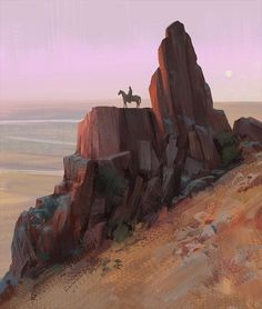 Cowboy landscape , Hugo Puzzuoli on ArtStation at… Landscape Concept, Landscape Artwork, Landscape Drawings, Fantasy Landscape, Landscape Illustration, Digital Illustration, Fantasy Art, Pin Ups Vintage, Western Landscape