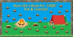 Bulletin Board Ideas -- Camping Themed Back To School