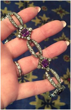 a beautiful antique amethyst and diamond bracelet at keyamour