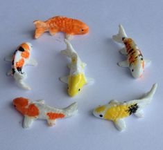 Miniature Koi Fish for Fairy Garden or Miniature by DShurCreative