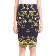 Versace Collection Printed Neoprene Pencil Skirt (33.700 RUB) ❤ liked on Polyvore featuring skirts, apparel & accessories, long pencil skirt, versace, neoprene pencil skirt, pencil skirt and neoprene skirt