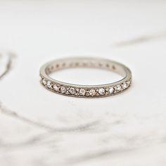 Image of platinum & rose-cut full eternity ring