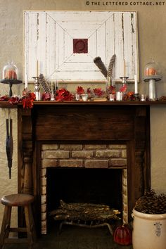 Love the mantel decor!! Perfect also for the entryway and kitchen!!