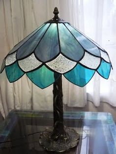 Like the curve with flat glass - Glasshoppers: Stained Glass Lamps