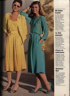 Vintage Girls, Vintage Dresses, 80s And 90s Fashion, Fashion Illustration Vintage, Teenage Years, Office Fashion, 1980s, Vintage Fashion, Shirt Dress