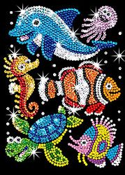 Kit Sequin Art Junior - Sous la mer (KAD0908)