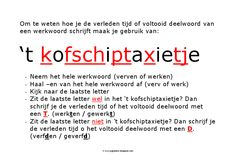 "poster t kofschiptaxietje - ""cheat sheet"" for students Teaching Kids, Kids Learning, Learning Quotes, Mobile Learning, Learn Dutch, Dutch Language, School Posters, School Hacks, School Tool"