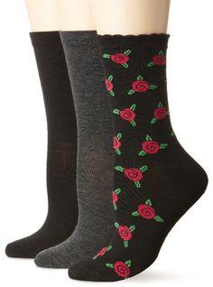 10eachBetsey Johnson Women's 3 Pair Pack Crew Socks -Rose Bud, ... https://www.amazon.com/dp/B00DJ2TH7I/ref=cm_sw_r_pi_dp_x_ZQCyybBMNRM6K