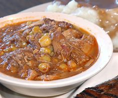 This robust, thick stew is a classic dish featuring meat, vegetables and a really good sauce. Serve it with biscuits or cornbread, as you pr...