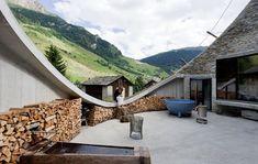 Villa Vals vacation home in Switzerland near thermal spring