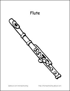 learn basic musical terms with these 10 printouts flute coloring page