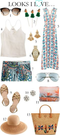 Cute vacation outfit inspiration for a Summer beach getaway or any other sunny location