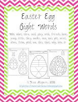 Free Easter Egg Sight Words