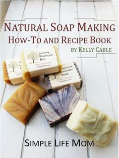 Natural Soap Making Recipe Book and Instructions for cold process soap and shampoo bars. Learn how to color soap naturally and add herbs, milk, and other natural ingredients. Troubleshooting techniques, oil properties, and 11 great body bar recipes. Soap Making Recipes, Homemade Soap Recipes, Bar Recipes, Healthy Recipes, Homemade Gifts, Soap Making Supplies, Home Remedies For Hair, Natural Beauty Tips, Shampoo Bar