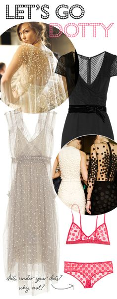 I love polka dots and I LOVE sheer things.  Here is the perfect combo of loves!