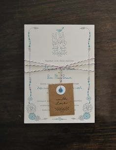 Love this boho inspired invite suite