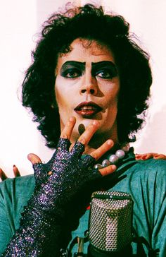 Tim Curry in Rocky Horror Picture Show. Love it, love him.