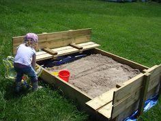 homemade sandbox, backyard idea, craft idea, sandbox instruct