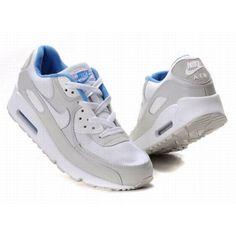 air max 90 gris blanc bleu