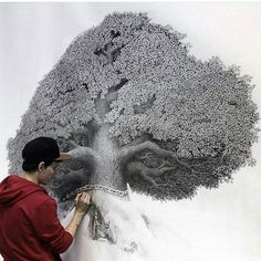 Detailed tree drawing by @fujinart by artistic.support