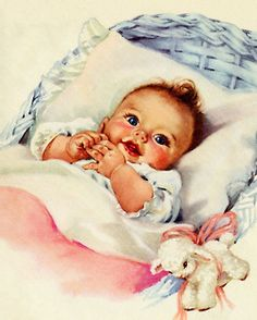 Oh Baby! An adorable rosy cheeked style cuddle bug of a baby that just melts your heart! Now THAT'S a baby! Great decor for a nursery or for a baby shower. Little Doll, Little Babies, Cute Babies, Images Vintage, Vintage Pictures, Vintage Greeting Cards, Vintage Postcards, Free Printable Cards, Printables