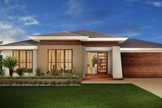 House Facade Single Story Australia For 2019 Style At Home, 4 Bedroom House Designs, Facade House, House Facades, Craftsman Exterior, Southern House Plans, House Front Design, Australian Homes, House Entrance