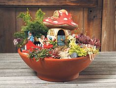 More Than 20 Beautiful Diy Tea Cup And Fairy Garden Ideas For Summer ; Beautiful Diy Tea Cup And Fairy Garden Ideas For Summer 36 ; Indoor Fairy Gardens, Mini Fairy Garden, Gnome Garden, Miniature Fairy Gardens, Fairy Gardening, Organic Gardening, Dragon Garden, Garden Plants, Large Flower Pots