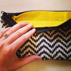 January Instagram Challenge Top Picks (Knitting): Knitted zipper pouch by Kimi Dawn. #instagram #challenge #knitting