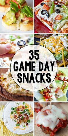 35 Game Day Appetizers & Snacks!