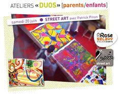 Rrose selavy » Stage «Duo» [parent+enfant] Street-Art / samedi 20 juin