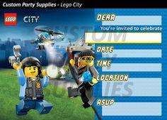 LEGO City Geburtstag Party-Einladungen zum von CustomPartyInvite