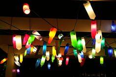 Colourful plastic bottle lights!