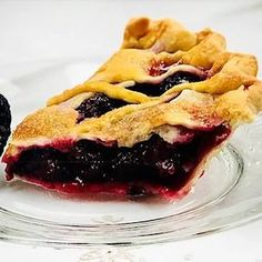 If you haven't eaten any blackberry pie yet, is it really summer? This perfectly easy blackberry pie comes together in a little more than an hour and Blackberry Pie Recipes, Lemon Sorbet, Fruit Pie, Food Words, Best Fruits, Pie Plate, Baking, Eat, Breakfast