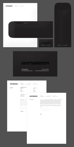 ian matteson branding designed by Shelby White. Simple. Classic. Will never get old. More work can be seen here http://blog.wanken.com/portfolio/# and here www.behance.net/wanken