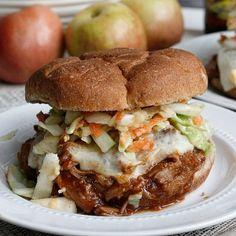BBQ Apple Pulled Pork Sandwiches
