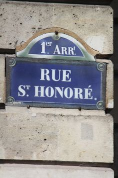 A little compliqué because this street is divided into two parts: the initial part called Rue Saint-Honoré (1er)  & the second part, Rue du Faubourg Saint-Honoré (8e) – which essentially means Saint-Honoré Street outside the walls of the city. Today it's just one street but Faubourg is where the massive fashion houses are – Versace, Hermès, Yves Saint Laurent, Prada, Valentino – & the Rue Saint-Honoré is where the smaller boutiques are - the part I love!