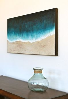 Beach original abstract art acrylic painting
