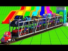 Cars 3 McQueen for kids Cars 3 Fabulous McQueen Mack Truck Hot Wheels with Color Water Sliders - YouTube
