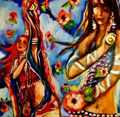 belly dancing  Painting by Kimberly Dawn Clayton