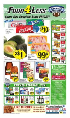 Food 4 Less Weekly Ad November 27 - December 1, 2015 - http://www.olcatalog.com/grocery/food-4-less-weekly-ad.html