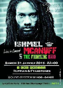 ISHMEL McANUFF - CONCERT in Live 31/01/15, Festivals et concerts reggae, agenda, France, paris, musique, dancehall, roots, dub, ska, kreyol