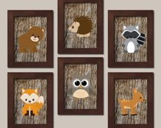 TRIBAL Nursery Wall Art Canvas or Prints Woodland by TRMdesign