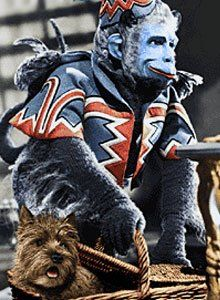 Wizard of Oz flying monkeys - terrified of then as a kid