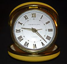 Vintage Westclox 7 Jewels Travel Alarm Clock by Collectitorium